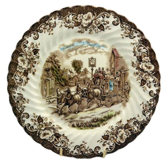 Johnson Bros coaching scene dinner plate multicolour