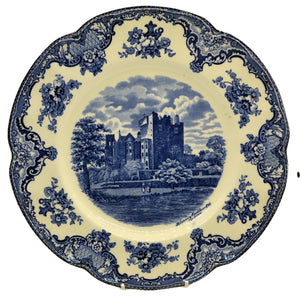 Johnson Bros blue and white england castle plate blarney castle