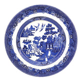 blue and white willow china Johnson Bros