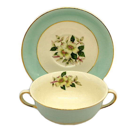 Johnson Brothers Pareek Pistacio Snowhite Range Soup Cup and Saucer