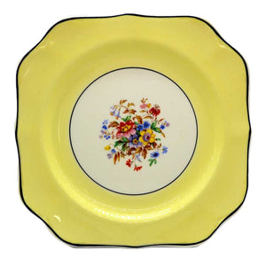 pareek china yellow johnson bros cake plate
