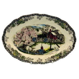 Johnson Bros china plate The Friendly Village the Well
