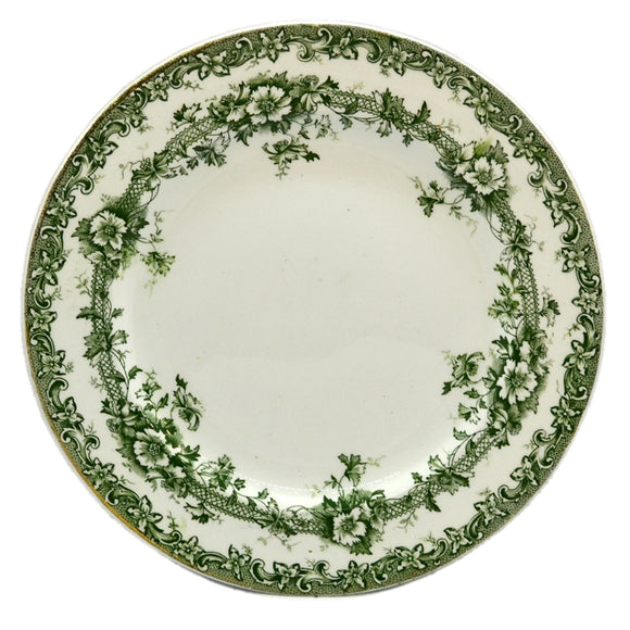Keeling & Co Devon Side Plates Antique green and white china c1904
