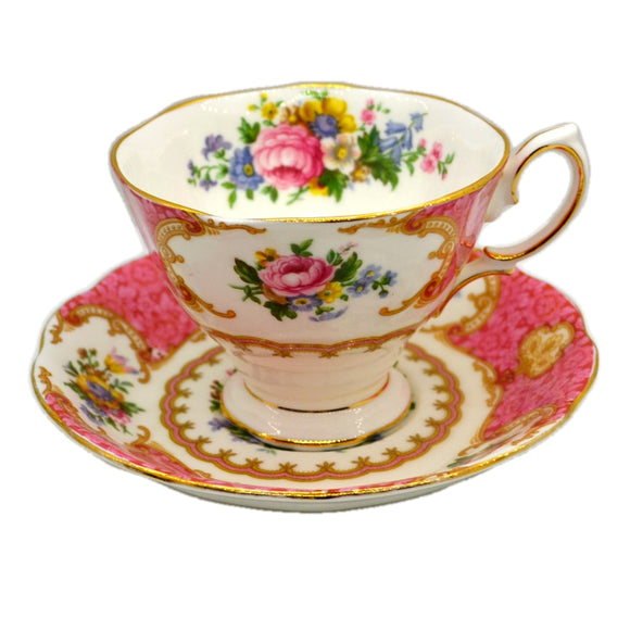 Royal Albert China Lady Carlyle Teacup and Saucer