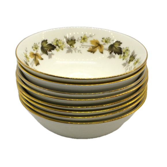 Royal Doulton Larchmont China Dessert Bowls TC1019 5-1/8th-inch