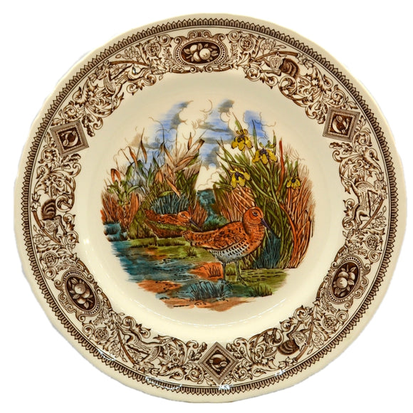 Mason's China Game Birds The Snipe 10.5-inch plate