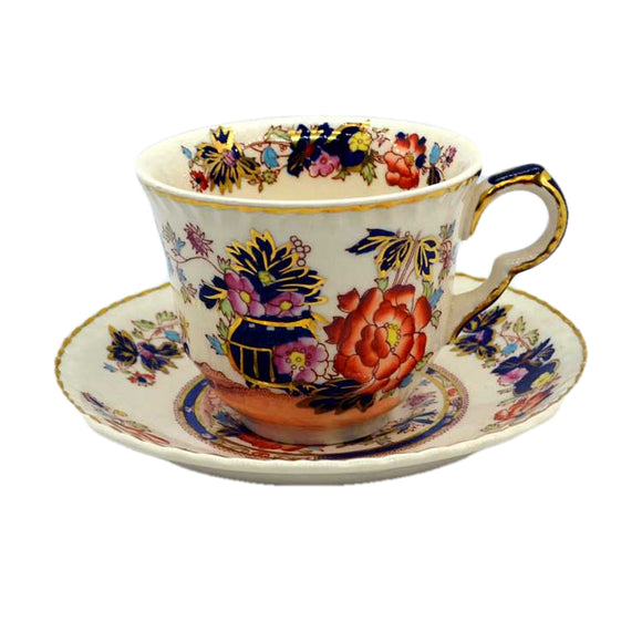 masons mandarin teacup and saucer 1920-1923