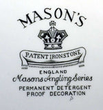 Vintage Masons Ironstone Angling series The Bailiff platter