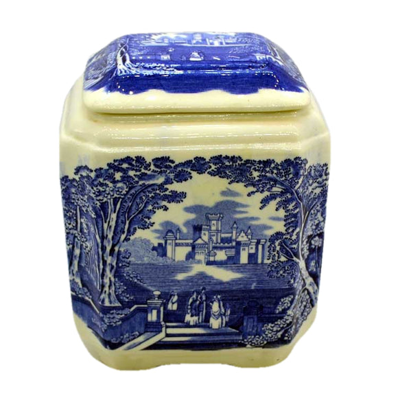 Masons china tea caddy twinings blue and white china