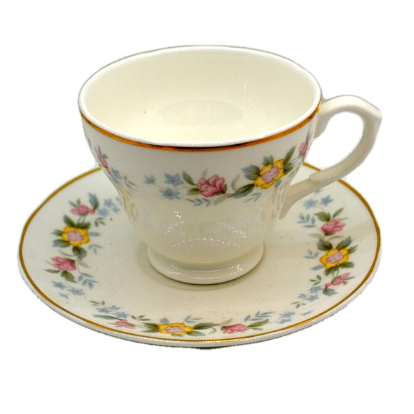Mayfair Floral China Apline Flowers Teacup and Saucer