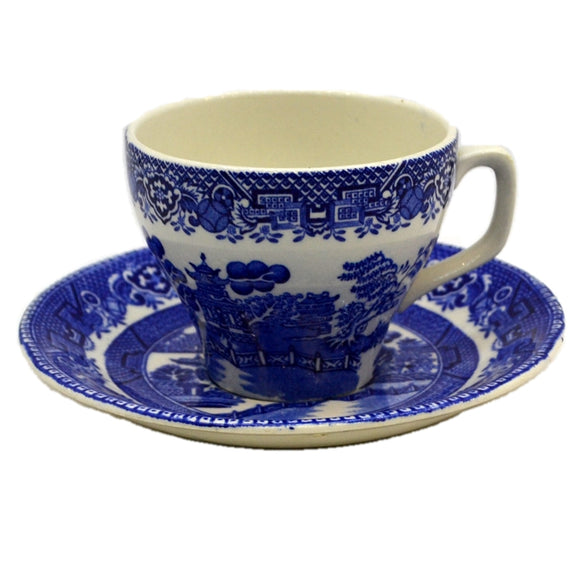 Alfred Meakin Blue and White Old Willow Tea Cup and Saucer