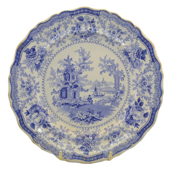 Antique 1860 blue and white china