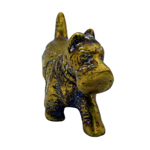 vintage brass scottie dog