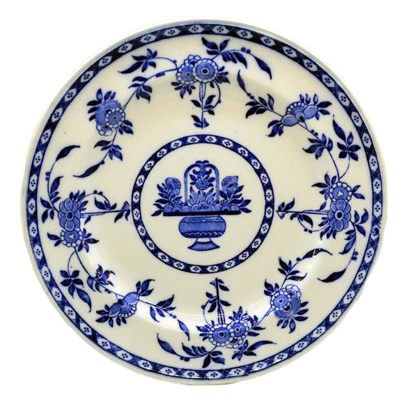 early mintons blue delft blue and white china plate