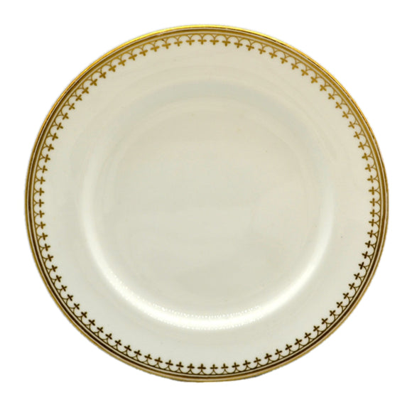 Antique Minton China White and Gold Dessert Plates 1866-1871