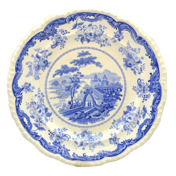minton chinese marine c1830 blue and white china