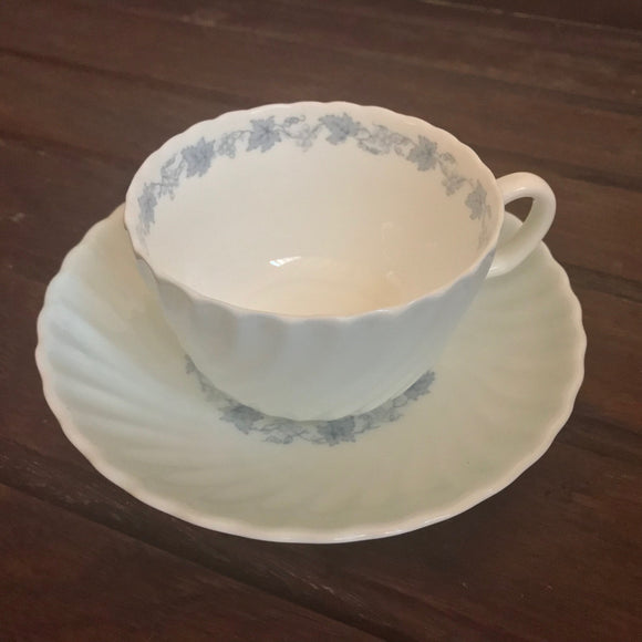 Minton teacup in Vineyard blue S574 pattern