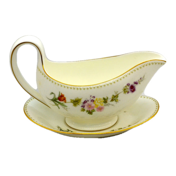 Wedgewood China Mirabelle R4537 Gravy Boat and Saucer