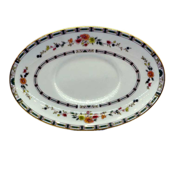 Royal Doulton China Mosaic Garden TC1120 gravy boat saucer