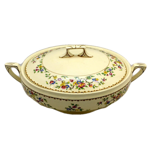 Myott Floral China Lidded Serving Dish Tureen