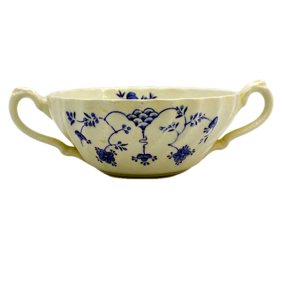 Myott Blue and White Finlandia china soup cups