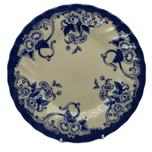 Vintage blue and white china dessert plate Myott Meaking Ltd