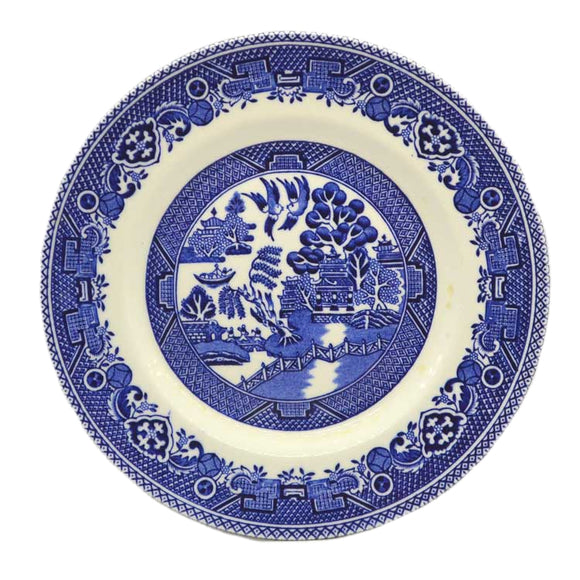 Myott Blue and White china Willow side plate