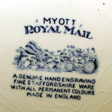 Myott Royal Mail blue and white china mark