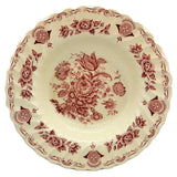 Myotts Bouquet Red and White China 9.75-inch Rimmed Soup Bowl