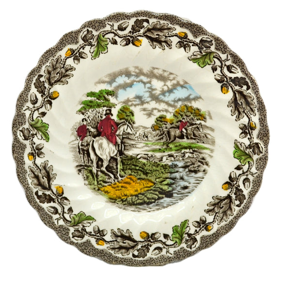 Myotts Country Life Series China Brown and White 7.75-inch plate