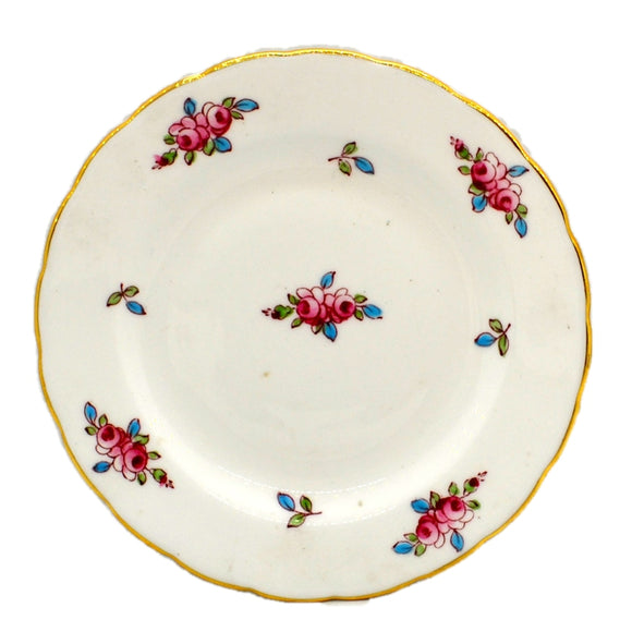 New Chelsea Pattern 1433 Pink Rose Bud Floral China 5.25-inch Side Plate