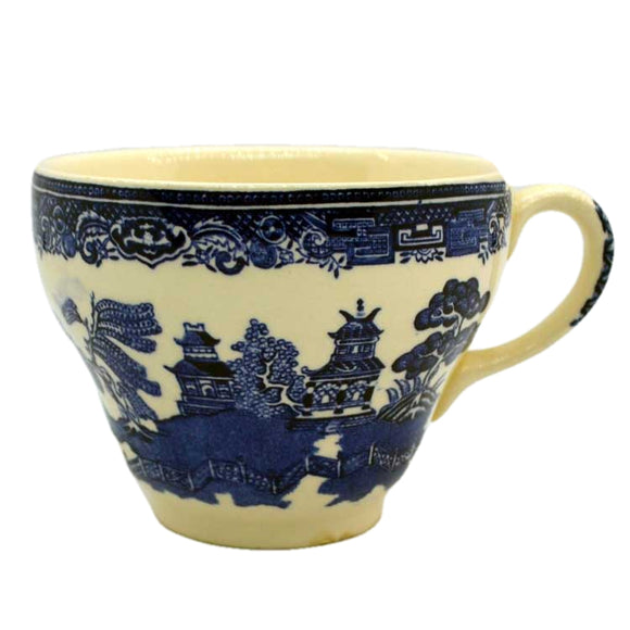 Vintage Blue and White Old Willow tea cups