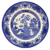 English Ironstone Tableware Blue and White China Old Willow 9-7/8th-Inch Dinner Plate