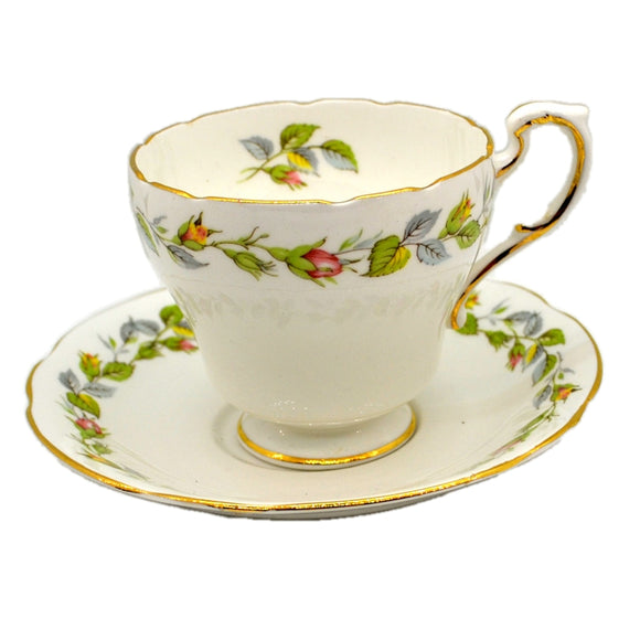 Paragon Bone China Rose Bud Garland Teacup and Saucer