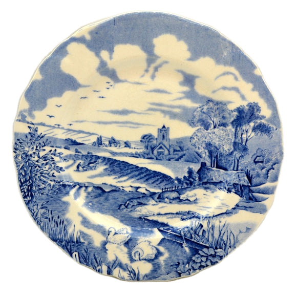 Alfred Meakin Pastoral Blue and White China Side Plate