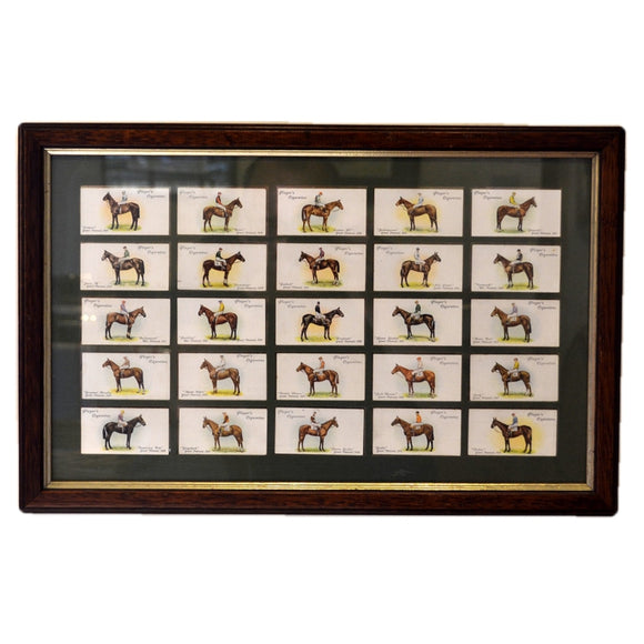 1907-1932 Players Cigarettes Grand National Cards Double side view Framed Picture