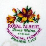 Royal Albert Provincial Flowers Prairie Lily china mark