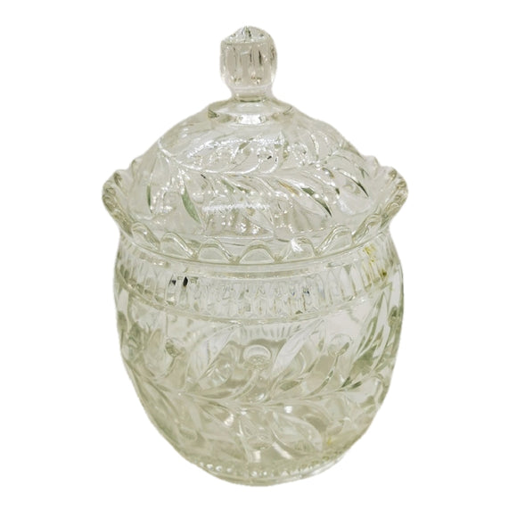 Antique Pressed Glass Biscuit Barrel