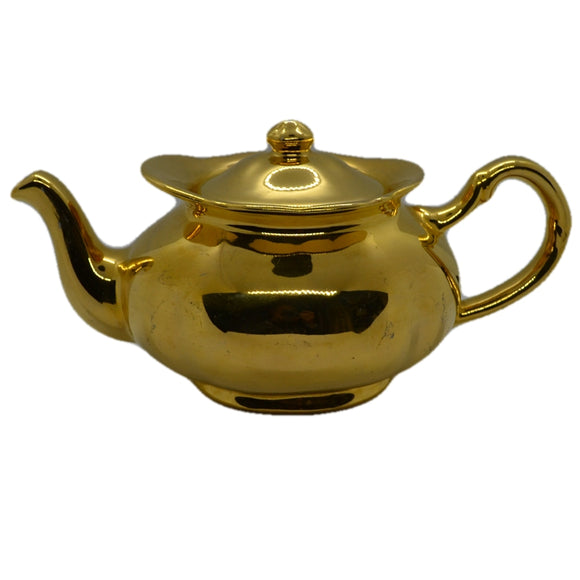 Vintage Price Bros gilt teapot