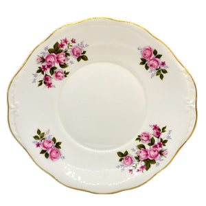Queen Anne Floral China Pink Roses Cake Plate