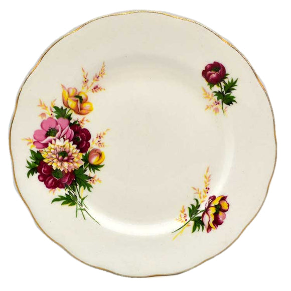 Queen Anne China Floral Side Plate