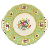 Queen anne gainsborough floral china cake plate