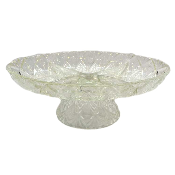 Lead crystal serving stand