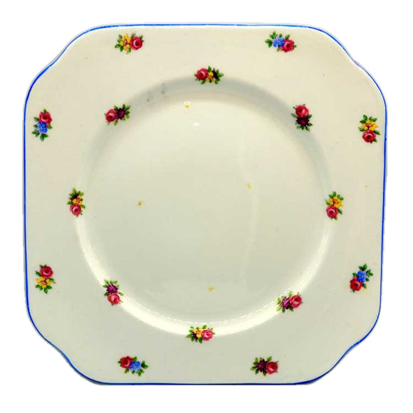 rare colclough china ditsy rose pattern cake plate