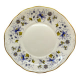 Colclough Rhapsody in Blue  bone china cake plate