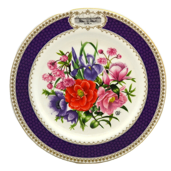 RHS Chelsea Flower Show Aynsley China Plate-1986