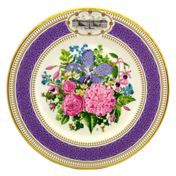RHS Chelsea Flower Show Royal Albert China Plate-1990