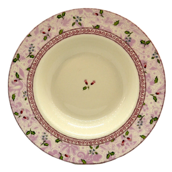 Johnson Brothers China Rose Damask Rimmed Soup Bowl