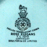 Royal Doulton Rose Elegans large china sugar bowl
