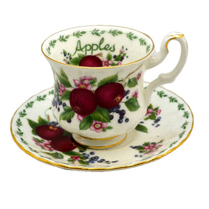 Royal Albert China Apples Teacup and Saucer